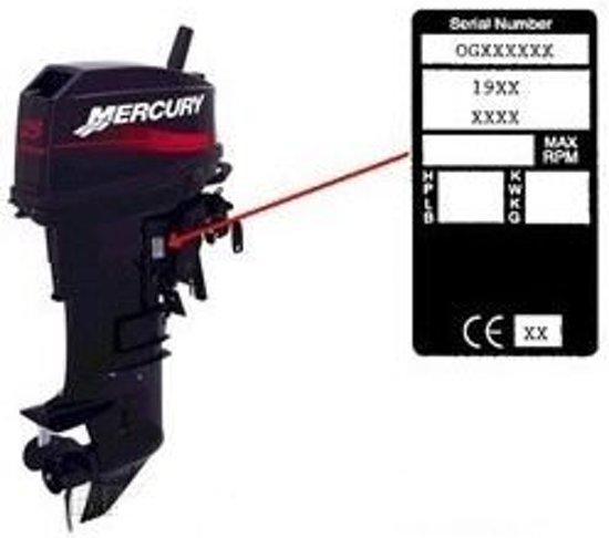 Mercury zuiger 3cil 65/80jet 94-98, 75/90 pk 94-02, 100/115/125 pk 4cil 94-04 (REC2704-826191T4K)