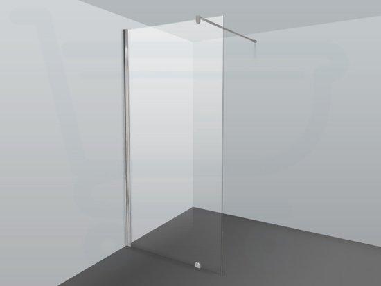 Inloopdouche Zonder Glas : Bol id inloopdouche cm chroom profiel en helder glas