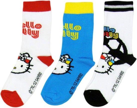 Hello Kitty sokken set van 3 paar - maat 31-35