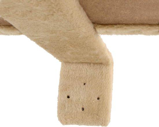 vidaXL Kattenkrabpaal met sisal krabpalen wandmontage 194 cm beige
