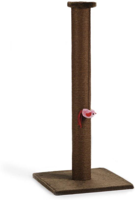 Beeztees Bruno - Krabpaal - Bruin - 40x40x90 cm