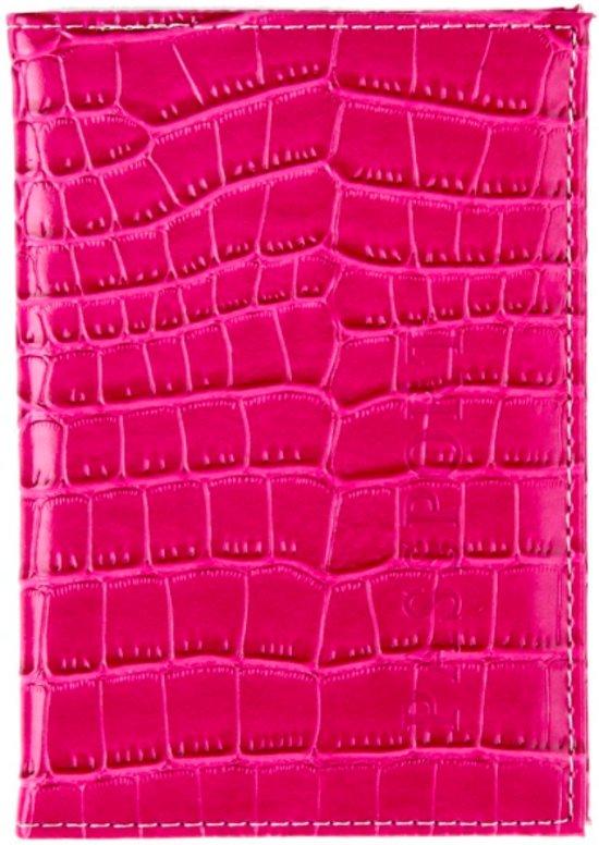 CoshX® Paspoort hoesje - houder - etui roze krokodillen dessin - paspoorthoesje