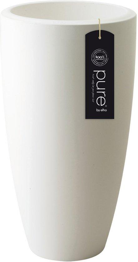 elho pure soft round high bloempot 35 cm - Wit