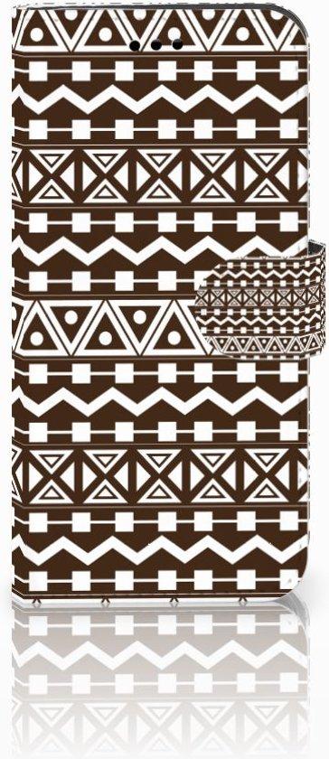Huawei P10 Lite Uniek Boekhoesje Aztec Brown