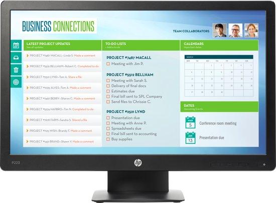 HP ProDisplay P223 21.5'' HD Zwart computer monitor