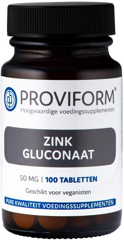 Proviform Zink gluconaat 50 mg - 100 tabletten - Voedingssupplement