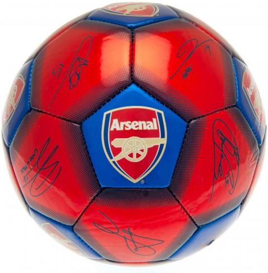 Arsenal Voetbal Handtekeningen Maat 5 BlauwRood