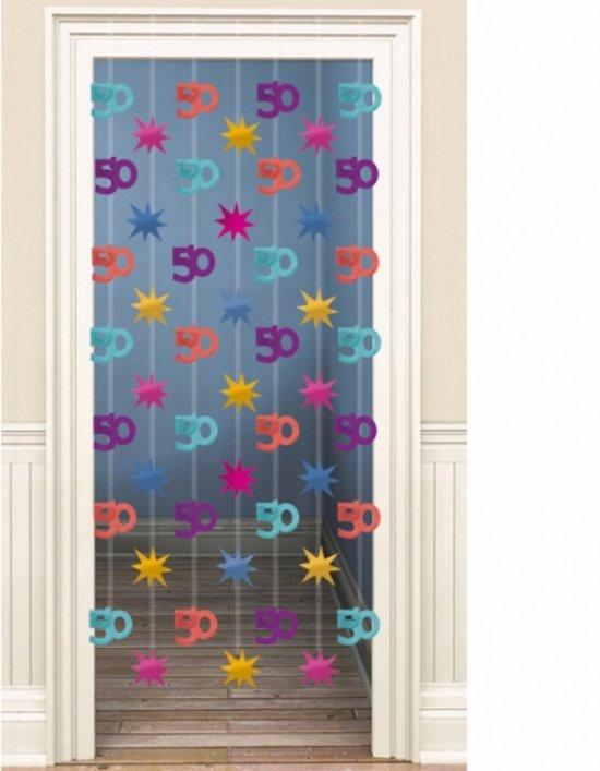 deurgordijn 50 jaar bol.| Deco deurgordijn 50 jaar, Fun & Feest Party Gadgets  deurgordijn 50 jaar