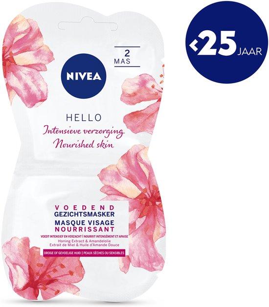 NIVEA Essentials Voedend Honing Gezichtsmasker - 2 x 7,5 ml