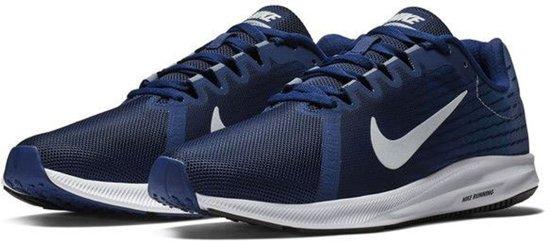 Nike Downshifter 8 Hardloopschoenen Heren Sportschoenen - Maat 40 - Mannen - blauw/wit