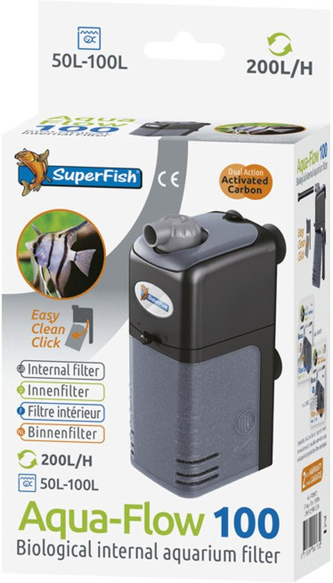 superfish aquaflow dual action 100 aquarium filter 200 ltr uur. Black Bedroom Furniture Sets. Home Design Ideas
