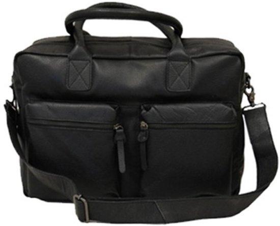 6b63edec10d Bloomsbury |businesstas | laptoptas | leer | zwart | 42x28x18 cm