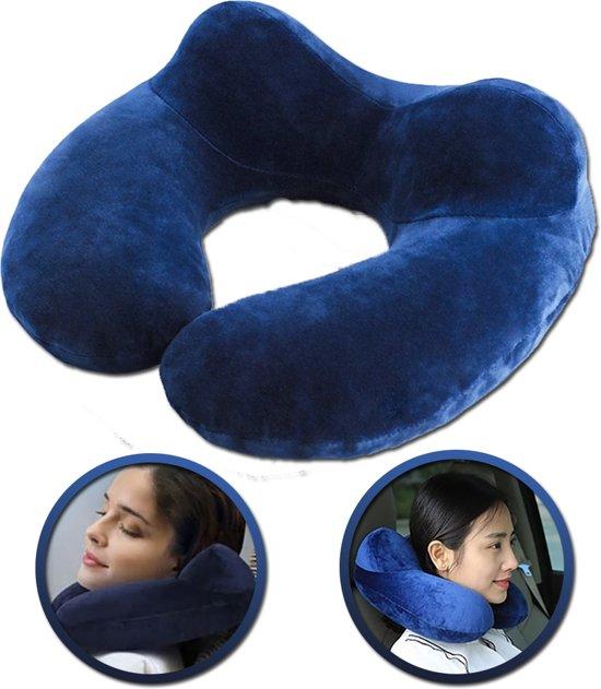Nekkussens | Foam nekkussen | Reiskussen | Zachte comfort nekkussen | U vormige kussen | Travel Pillow | Vliegtuig kussen | Voor in de auto, trein, vliegtuig of op reis | Donkerblauw