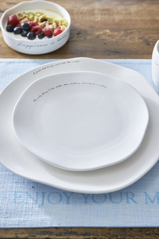 Genoeg bol.com | Riviera Maison A Good Chef Breakfast Plate - Ontbijtbord  MU-87