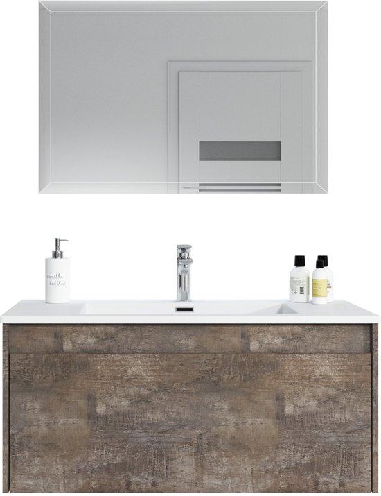 Bol badplaats badkamermeubel slik cm met led spiegel