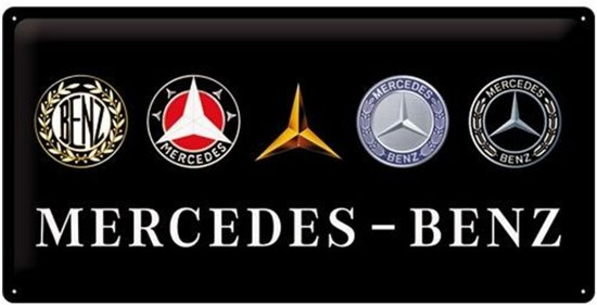 Bol Com Nostalgic Art Metalen Bord Mercedes Logo Evo 25x50 Cm