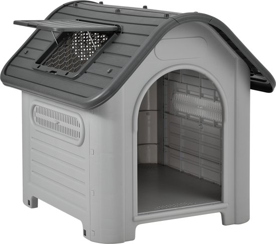 [en.casa]® Hondenhok hondenhuis - kunststof