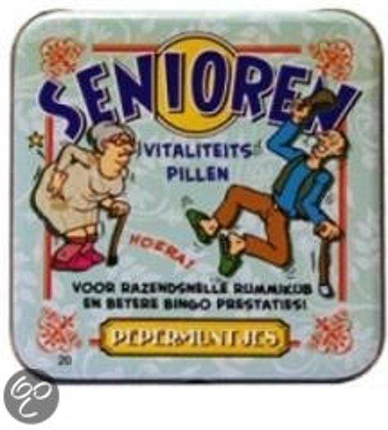Pepermunt Blikje - Senioren (incl. 70 gram pepermunt)