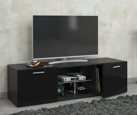 Tv Meubel Kast.Bol Com Tv Meubel Kast Lowina 115 Cm Premium Hoogglans Zwart