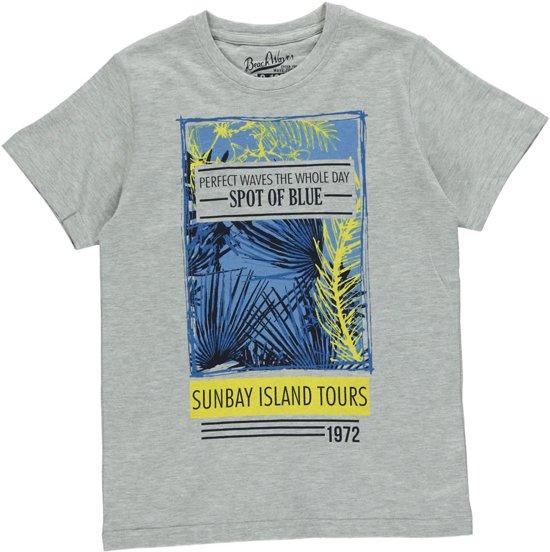 Losan Jongens Shirt Grijs met print K19- Maat 128