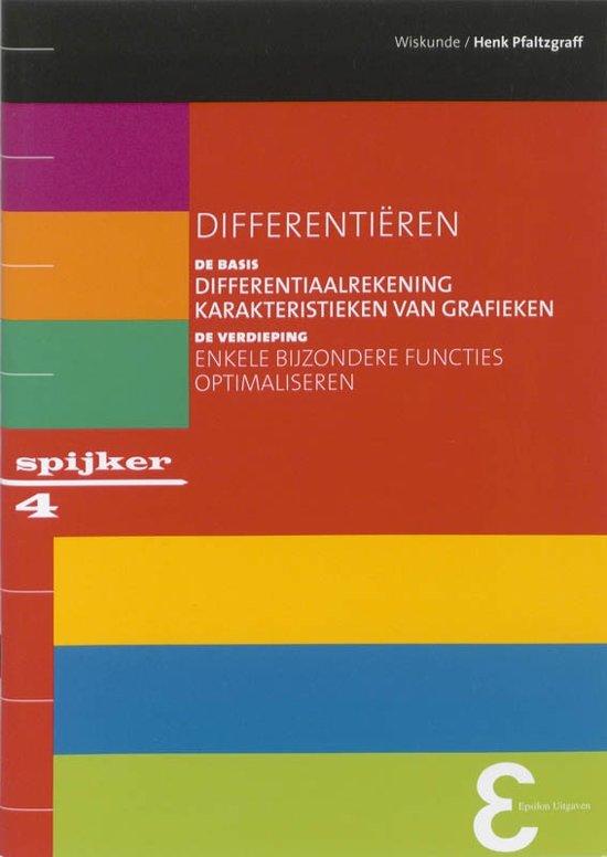 Boek cover Spijkerreeks 4 - Differentieren van Henk Pfaltzgraff (Paperback)