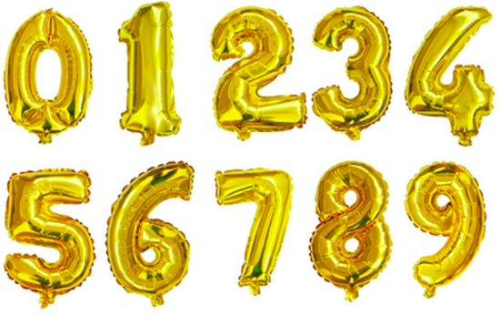 Bol Com Xl Folie Ballon 5 Helium Ballonnen Babyshower Goud