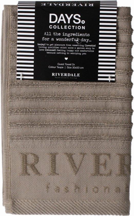 Riverdale Days Gastendoek 2 stuks - Beige