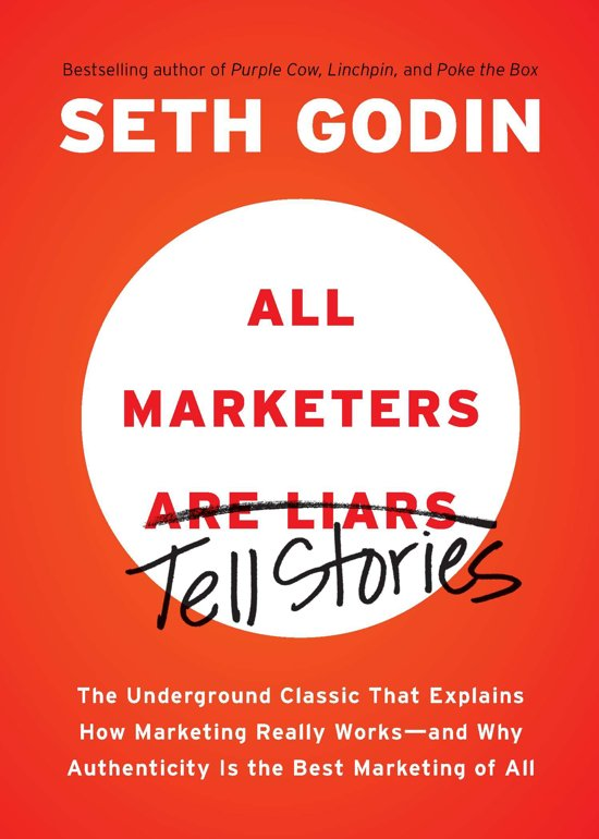 Boek cover All Marketers Are Liars van Seth Godin (Paperback)