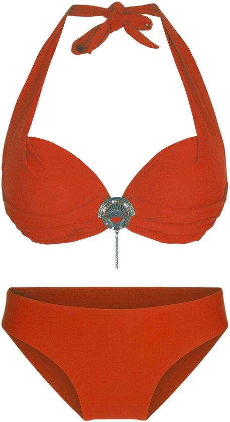 LingaDore 4115 SUMMER Halternek bikini set - Maat 40D- Oranje