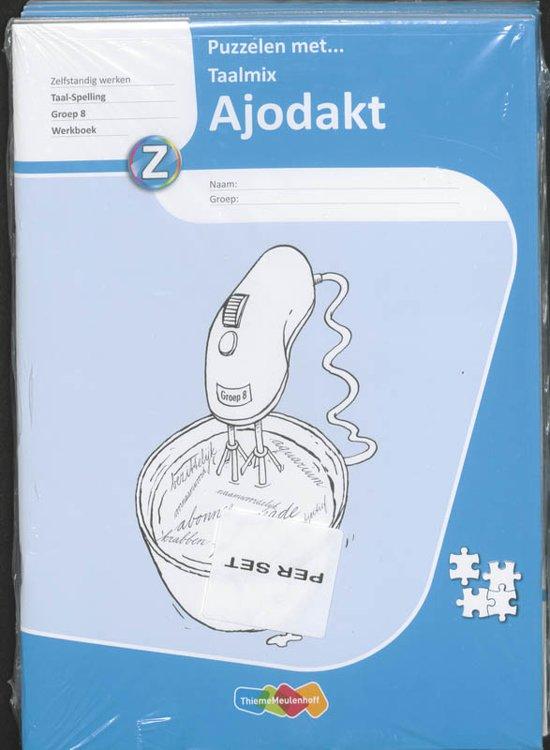 Hedendaags bol.com   Ajodakt Puzzelen met Taalmix 5ex Gr 8 Werkboek JB-84
