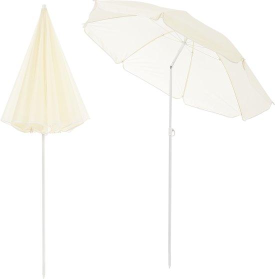 [casa.pro]® Kantelbare strandparasol - parasol - Crème