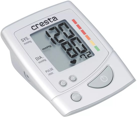 Cresta, BPM610X Bovenarm Bloeddrukmeter (Wit)
