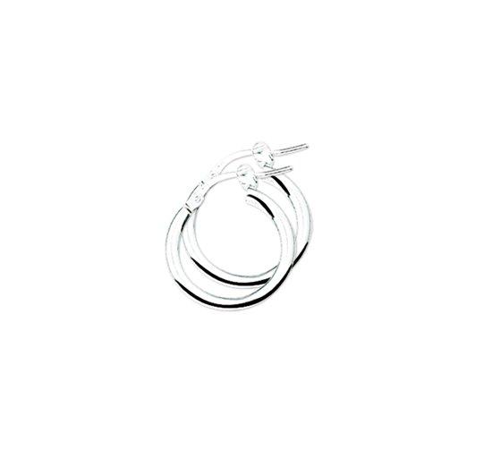 The Jewelry Collection Oorringen Ronde Buis - Zilver Gerhodineerd