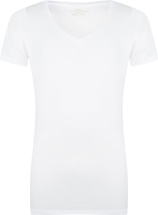 Ondershirts met ingenaaide okselpads tegen zweetplekken - slim fit - V hals - gewone lengte - XL