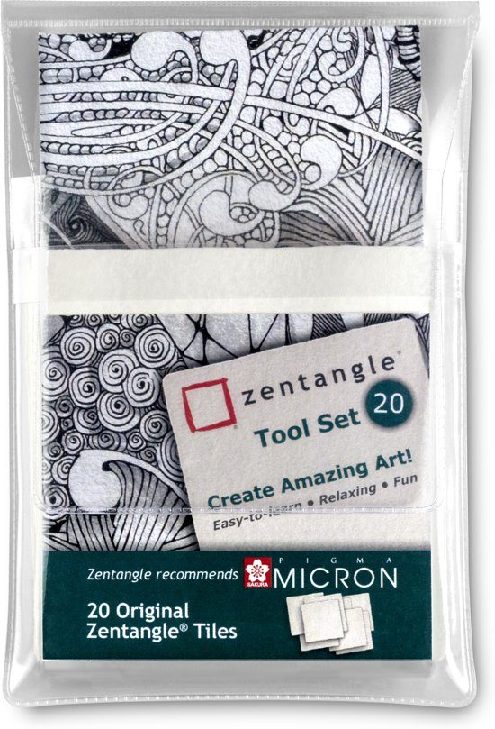 Zentangle Original tile set 20 (20 witte tiles)