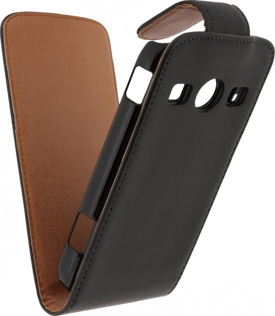 Xccess Leather Flip Case Sams Xcover2 bk