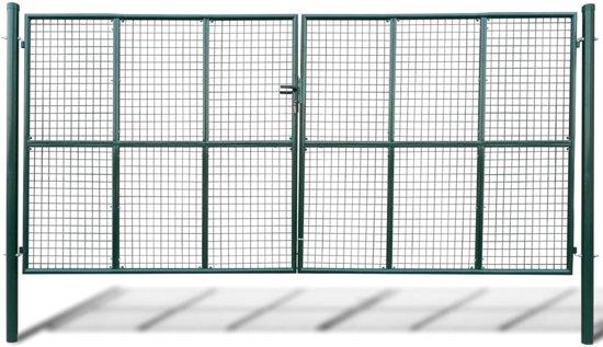 Tuinpoort met gaasmatvulling 415 x 250 cm / 400 x 200 cm