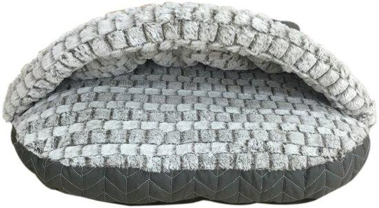 Adori Cave Knitted Kattenslaapzak - 60 x 40 x 18 cm - Grijs