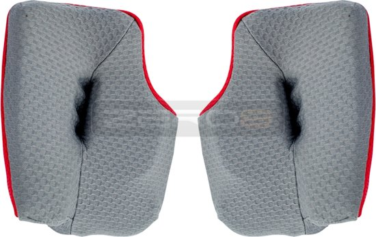Arai MX-V Wangstukken Cool Grey/Red-25mm