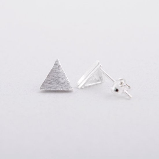oorbellen driehoek zilver