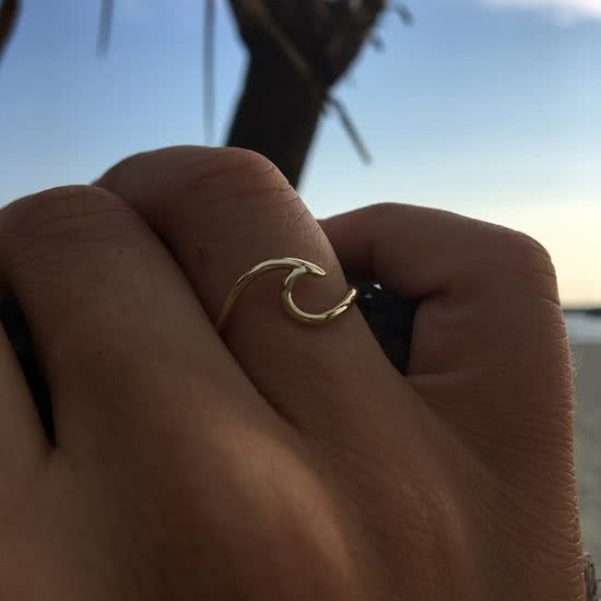 Wave ring - Plated - maat 18.00 mm (57)
