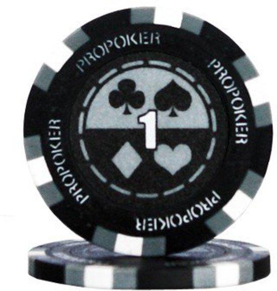 Pokerchip Pro Poker Clay Chip 13,5 Gram Grijs 1