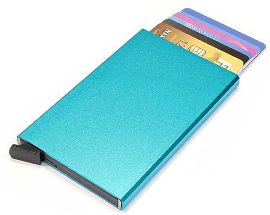Figuretta Basic Creditcardhouder / RFID Card Protector - 6 Pasjes - Lichtblauw