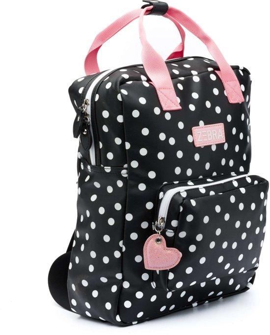 b829cfd3354 bol.com | Zebra Trends Girls Rugzak L Dots Black