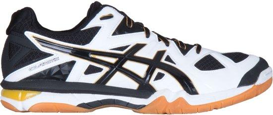 asics volleybalschoenen zwart wit