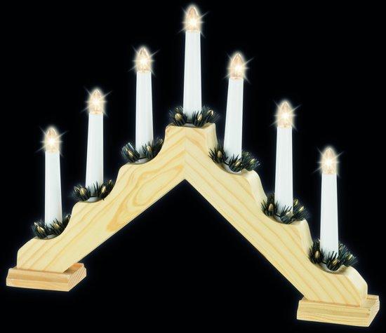 HHCP Vensterverlichting hout - 40 cm - Warm wit