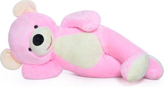 XXL teddybeer - roze - 155 cm