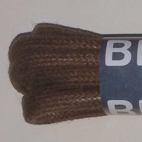 150cm bruine dikke ronde wax schoenveters - 1 paar Bergal 8815