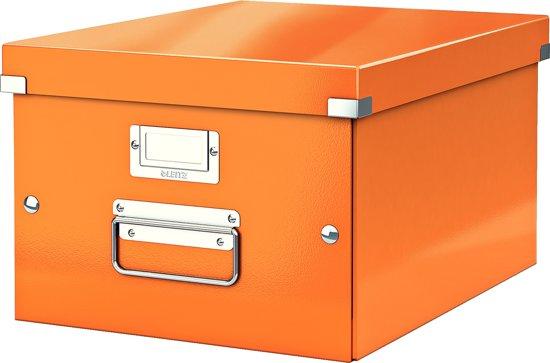 Leitz WOW Click & Store Opbergdoos Middelgroot (A4) - oranje