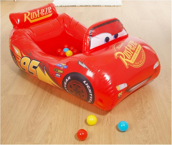 Cars 3 Lightning McQueen opblaasbare ballenbak (10 ballen)